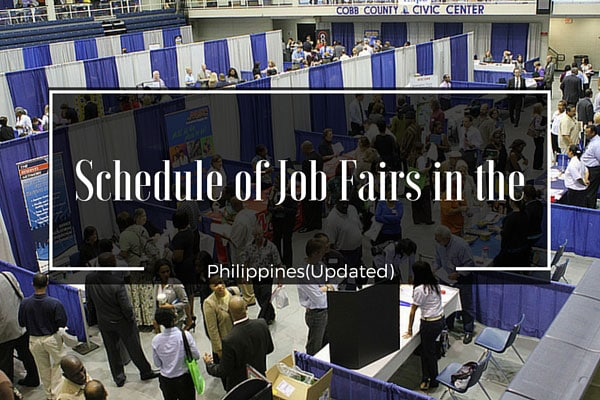 Schedule of Job Fairs for January 2011 (Updated)