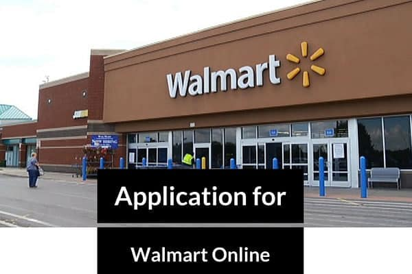 Application for Walmart Online