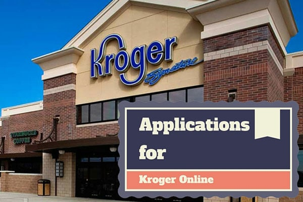 Applications for Kroger Online