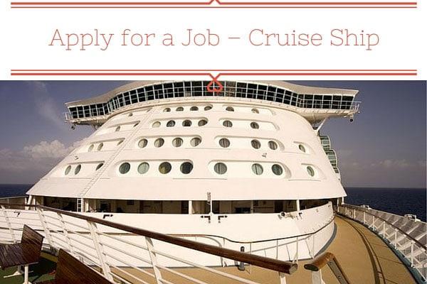 Apply for a Job Cruise Ship