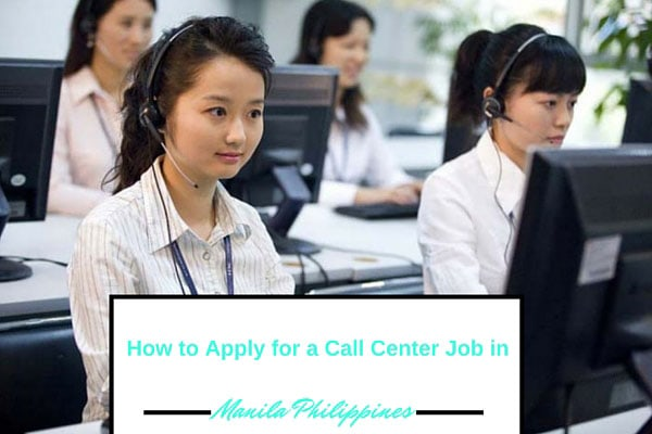 Call Center Job Apply Philippines Manila