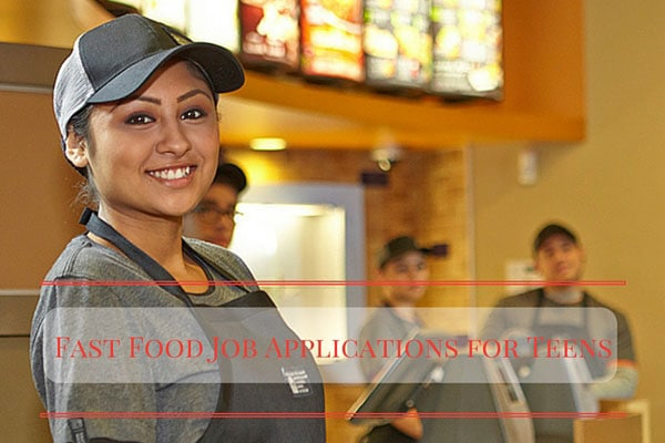 Fast Food Job Applications for Teens