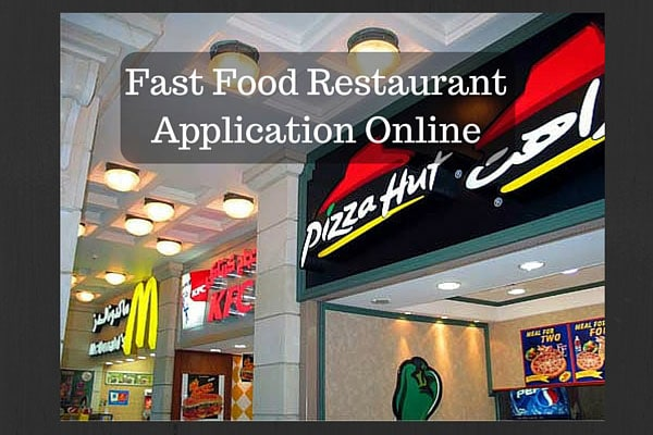 Fast Food Restaurant Application Online