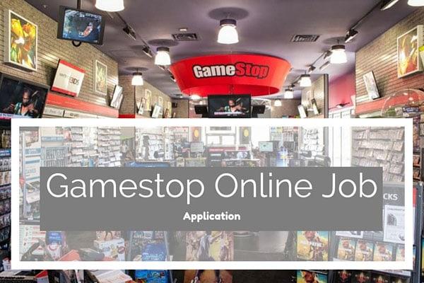 Gamestop Online Job Application