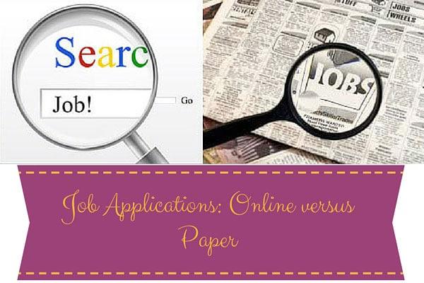 Job Applications: Online versus Paper