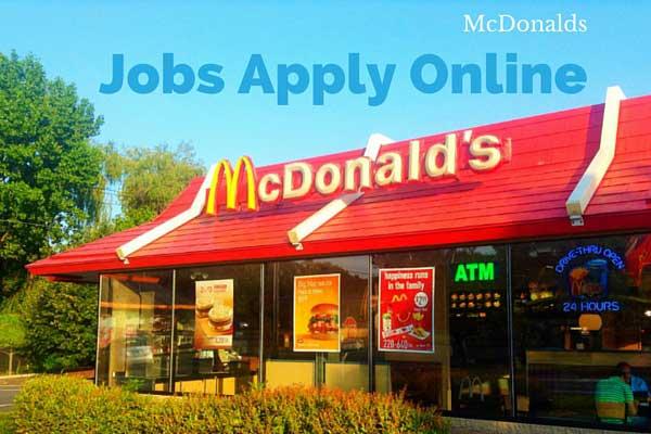 McDonalds Jobs Apply Online