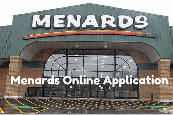 Menards Online Application