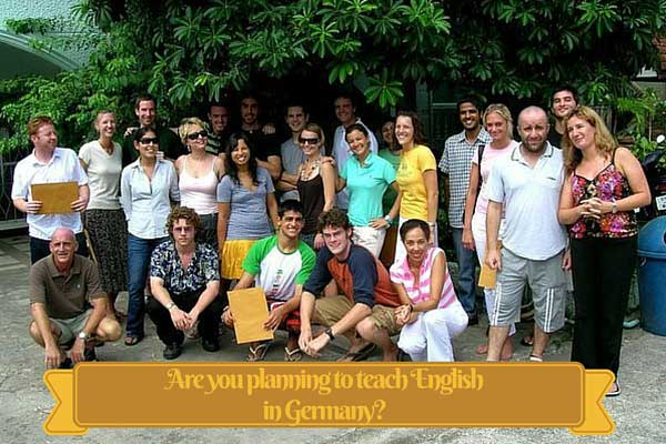 Are you planning to teach English in Germany?