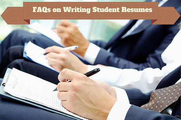 FAQs on Writing Student Resumes