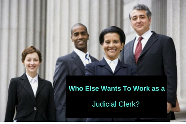 Who Else Wants To Work as a Judicial Clerk?