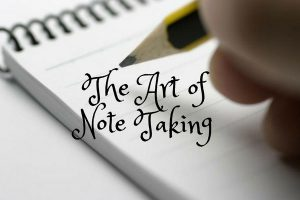 The Art of Note Taking