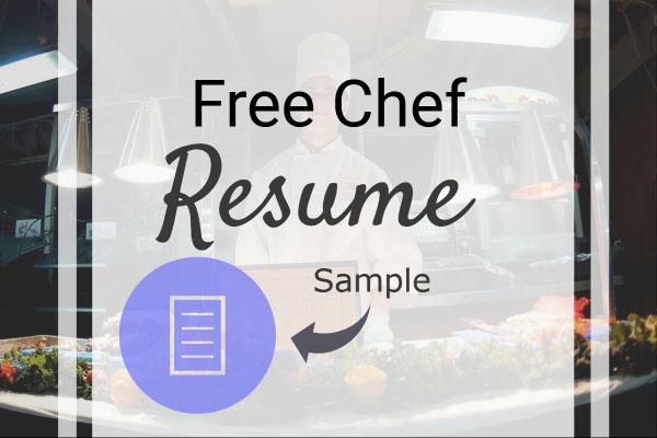 Free Chef Resume Sample