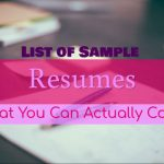 List of Sample Resumes That You Can Actually Copy