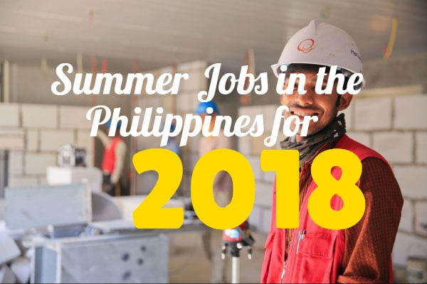 Summer Jobs in the Philippines for 2018