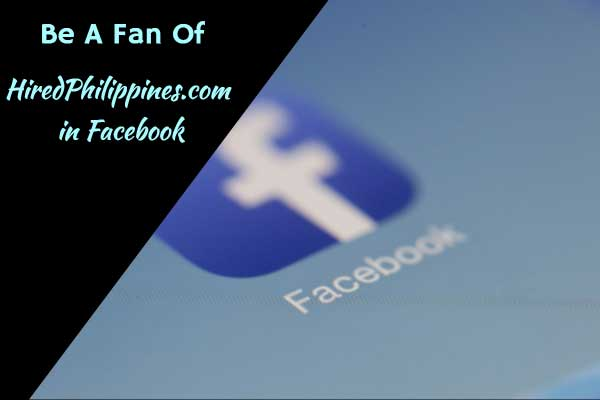 Be A Fan Of HiredPhilippines in Facebook